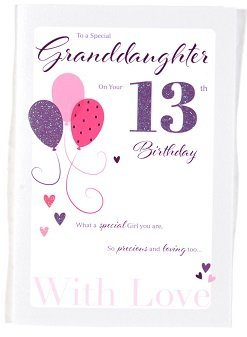 Granddaughter Age 13 Birthday Card – Crediton Card Centre