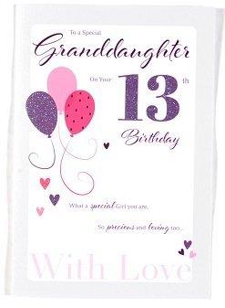 Granddaughter Age 13 Birthday Card – Crediton Card Centre