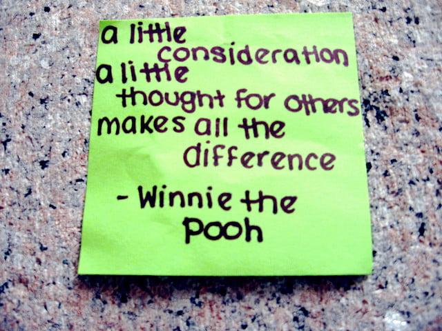 Winnie the pooh a little consideration note