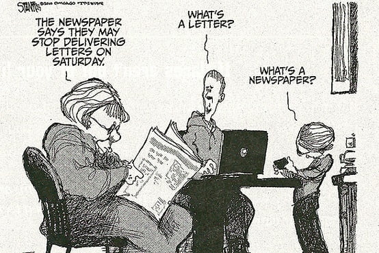 Generation Y Newspaper and Letter Comic