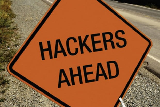 Hackers Ahed Road Sign