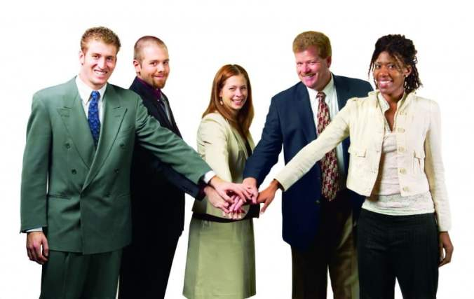 Business Team Group Hands Together