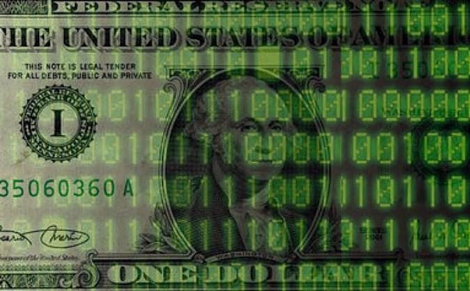 Dollar Binary 1s and 0s