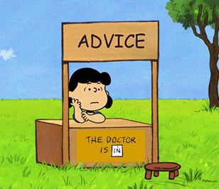 Image result for charlie brown advice booth