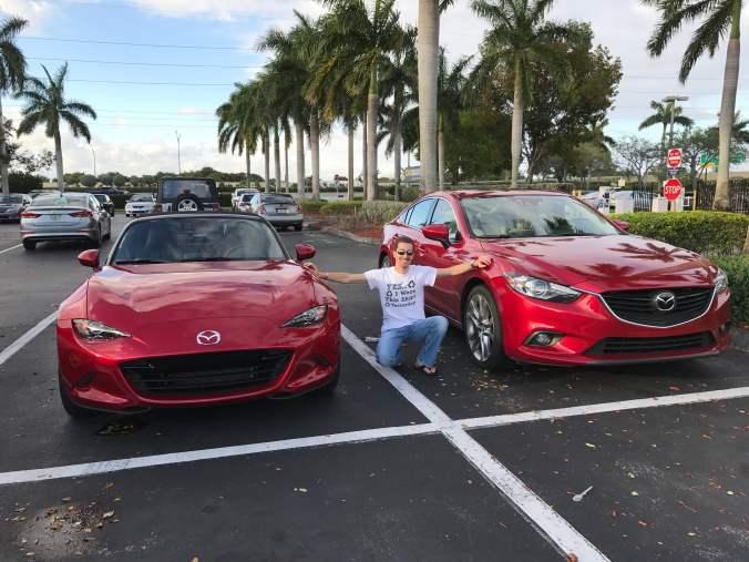 Joe Winn with Mazda Miata and Mazda6