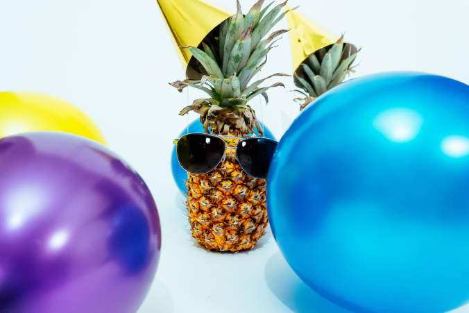 Pineapple with Glasses Partying