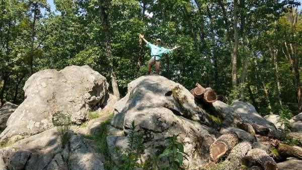 Joe Standing on Rocks