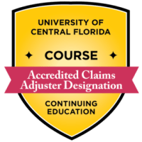 UCF Accredited Claims Adjuster Designation  Credly