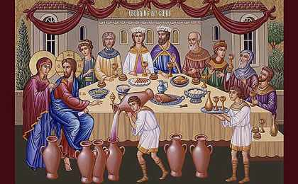 Jesus Turns Water Into Wine at the Wedding Feast of Cana