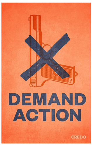 March for Our Lives protest poster – gun violence protest