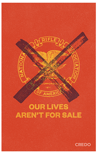 March for Our Lives protest poster – gun control