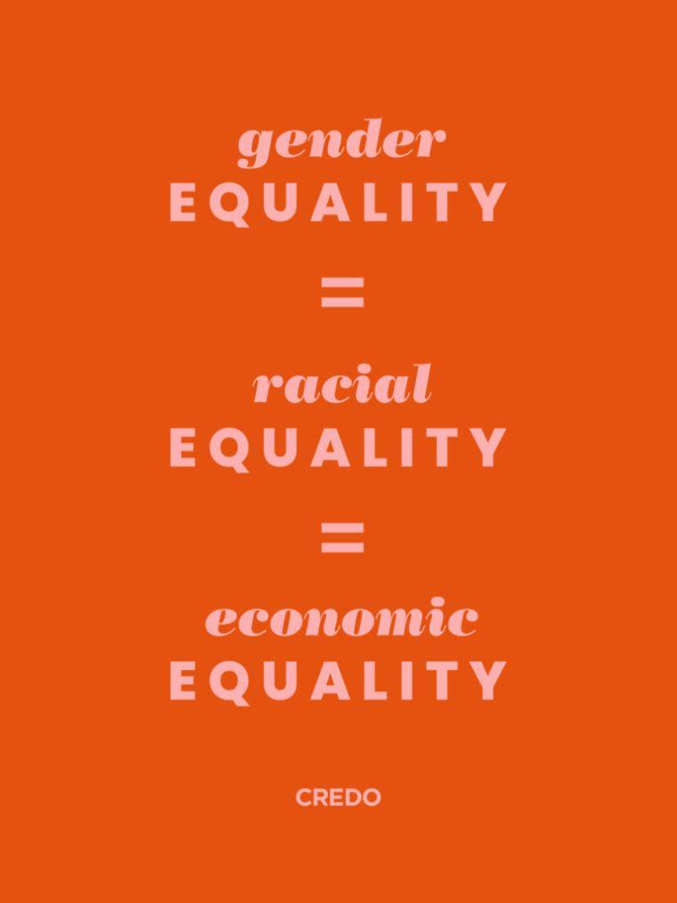 gender equality equals racial equality equals economic equality