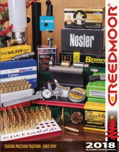 2018 Creedmoor Sports Reloading and Holiday Catalog