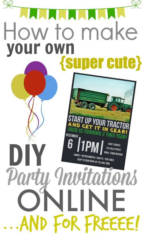 It S So Easy And To Make Your Own Stylish Printable Party Invitations No