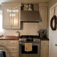 Kitchen Hood Vents Solid Wood Sets Diy Range Vent Pipe Cover The Creek Line House How To A Something Like This Is Especially Useful