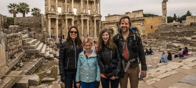 Turkey Day Six: The Roman ruins at Ephesus on a cold spring day