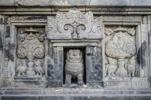 Prambanan: Hindu art, 9th century.