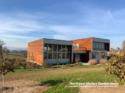 northwest modern custom home built by Creekside Homes