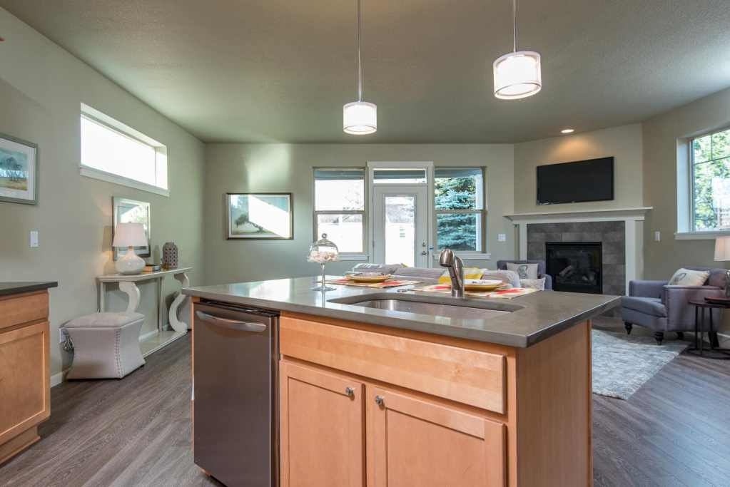 In-fill city lot craftsman home