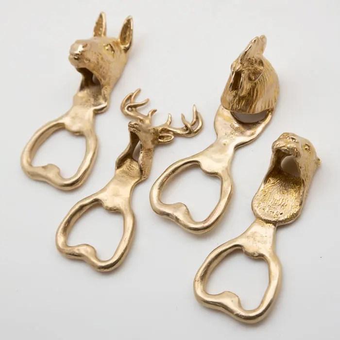 animal bottle opener (Donkey / Buck / Chicken / Otter)