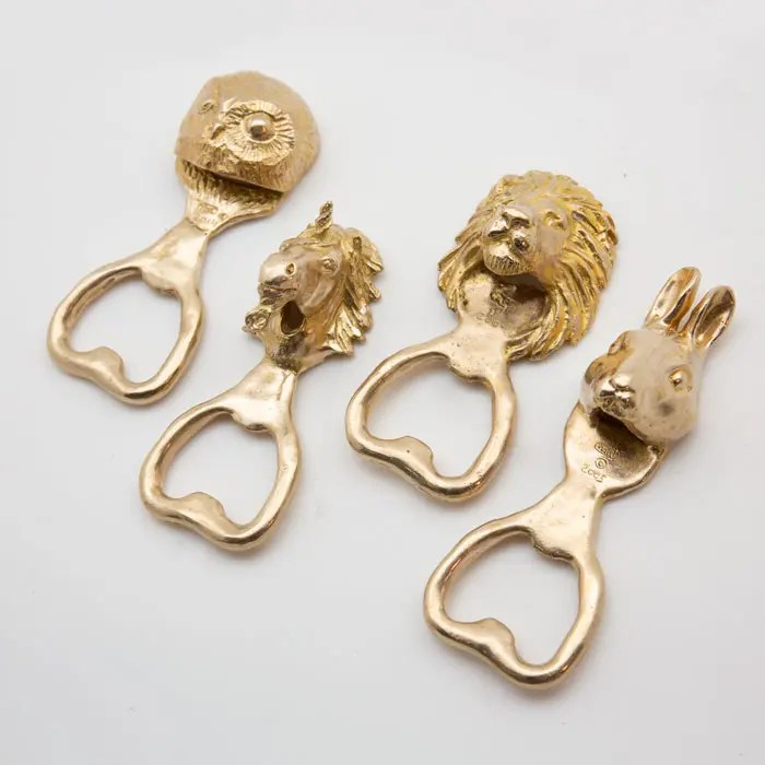 Brass animal bottle opener
