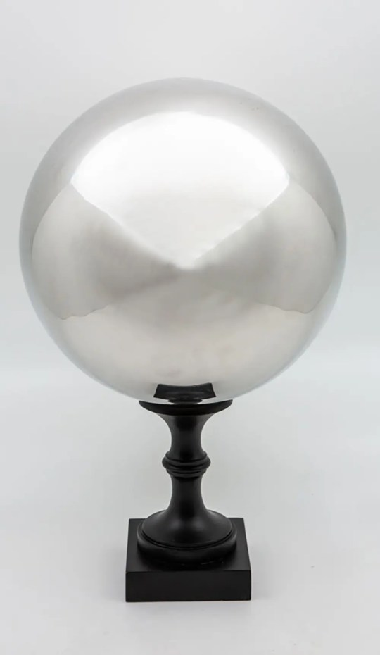 Mounted Butler's Ball on a turned wooden base