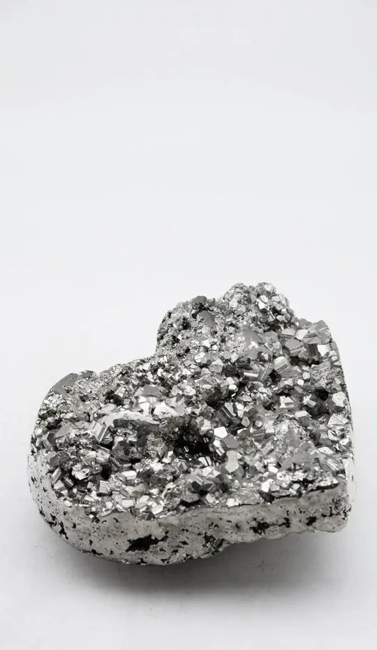 pyrite-heart-hand-carved