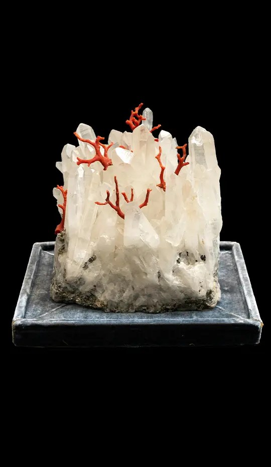 Mounted Rock Crystal Creation