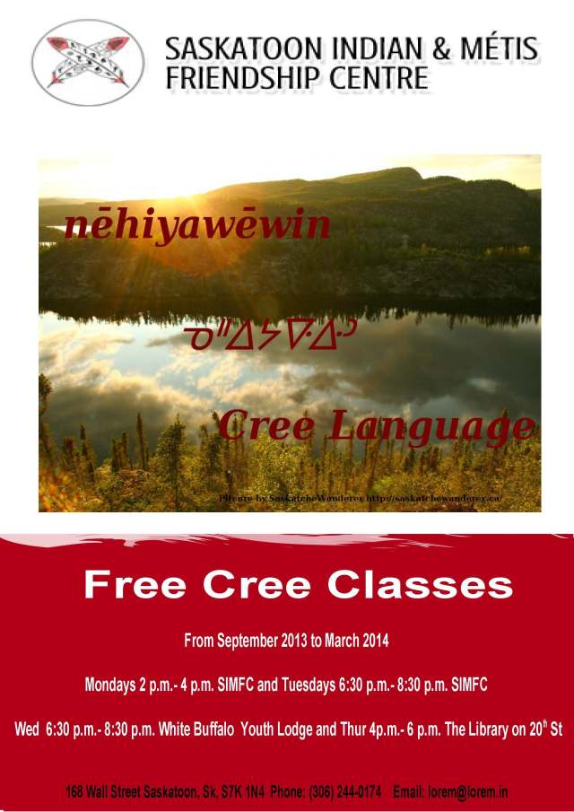Saskatoon Cree Classes