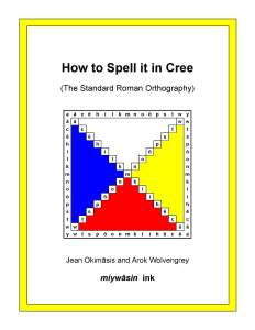 How to Spell it in Cree-Cover-front