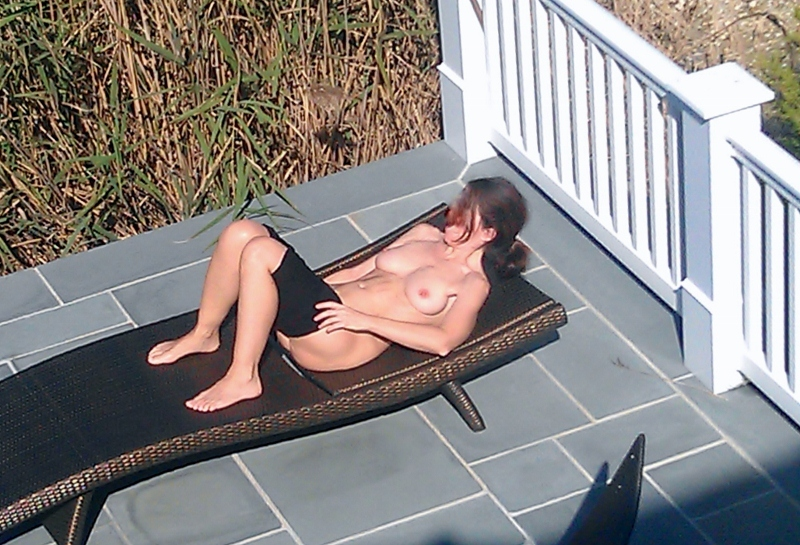 Neighbor saw my wife naked remarkable, rather