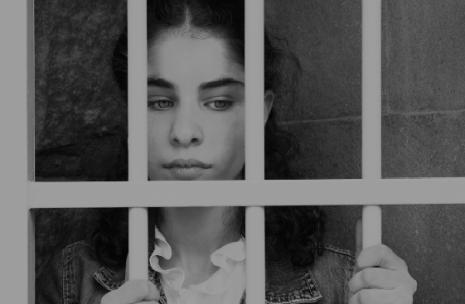 Girl in cell