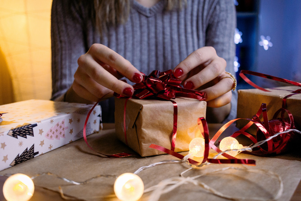 emballage cadeau sans papier cadeau
