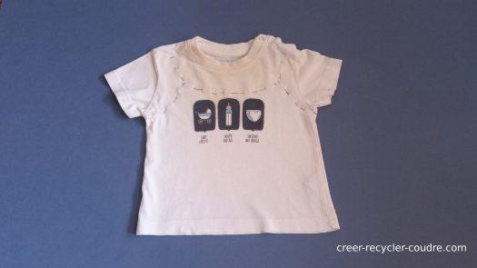 Tee-shirt épinglé endroit avec envers