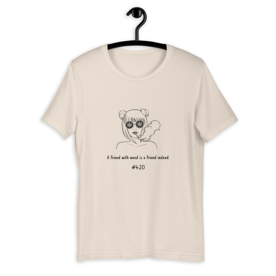 T-shirt A friend with weed is a friend indeed  Créer Son T Shirt
