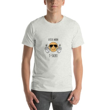 tee shirt personnalisable gris chine