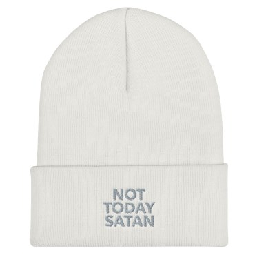 Bonnet personnalisé not today satan