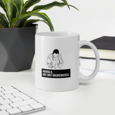 tasse personnalisée mug vegan animals are not ingredients