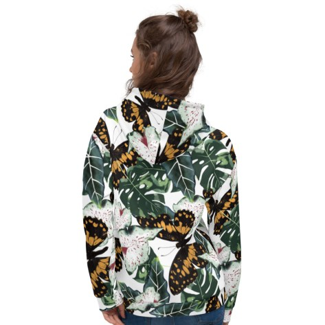sweat full print tropical nature feuilles vertes