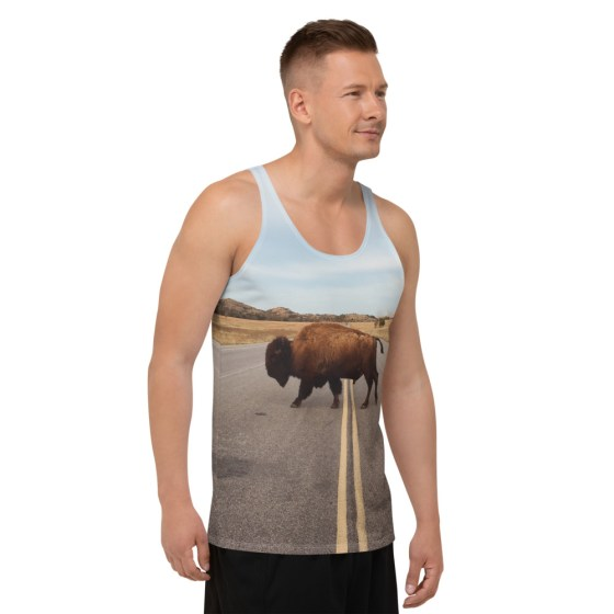 debardeur full print personnalisable bison usa