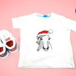 Horse With Christmas Hat Svg File Crella