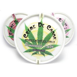 Creme de Canna's cannabis infused ice cream. Bananabis Foster, Straw Mari Cheescake