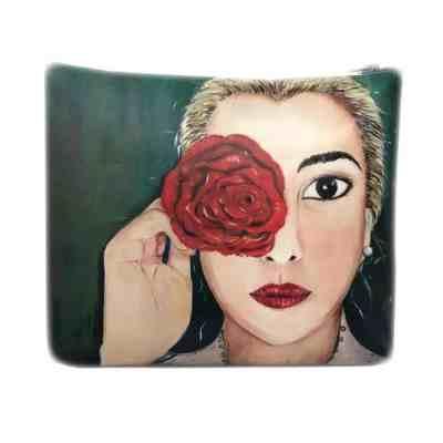 La Rosa di Carta pochette by Angela Zini taglia S