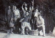 Tino, Benjamín, César, Marcelito, Leoncio, Leonardo y Juanmari de Bilbao