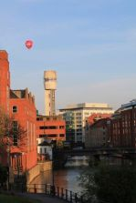 Balloon over Lead Shot Tower, Bristol