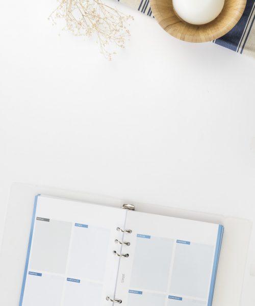 agenda con planificador semanal