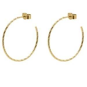 Large Sphere Hoop Earrings – Gold