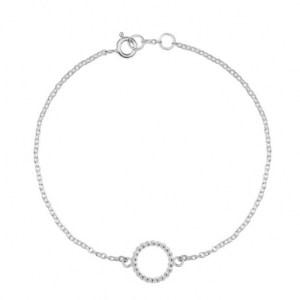 Mini Sphere Circle Bracelet – Silver