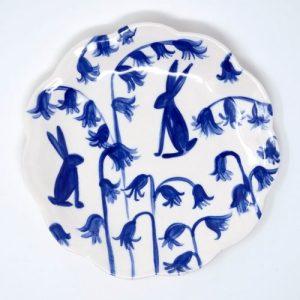 Bluebell Hares Plate 15 cm