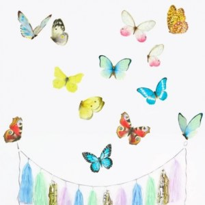 Watercolour Butterflies M  Wall Stickers